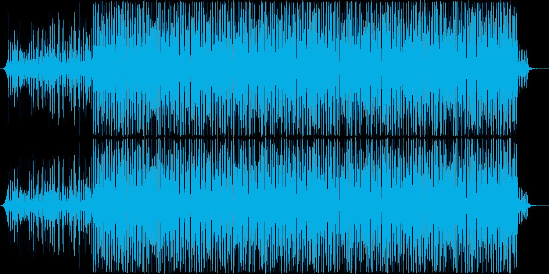ノリの心地よいダンサブルなハウスの再生済みの波形