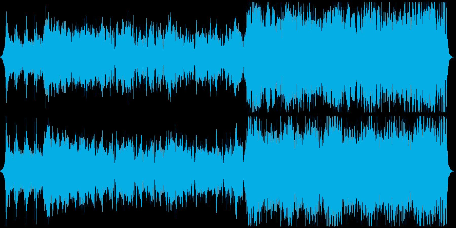 雄大で落ち着きのあるオーケストラの再生済みの波形