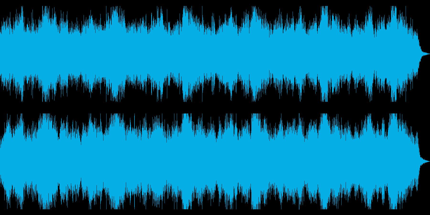 恐怖感、緊迫感を演出するダークなBGMの再生済みの波形