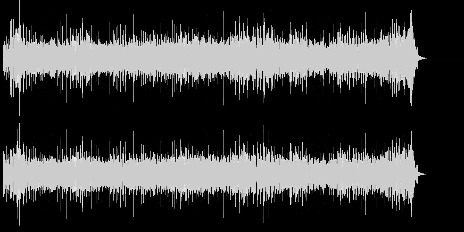 オルガン・ソロが炸裂するファンク・ロックの未再生の波形