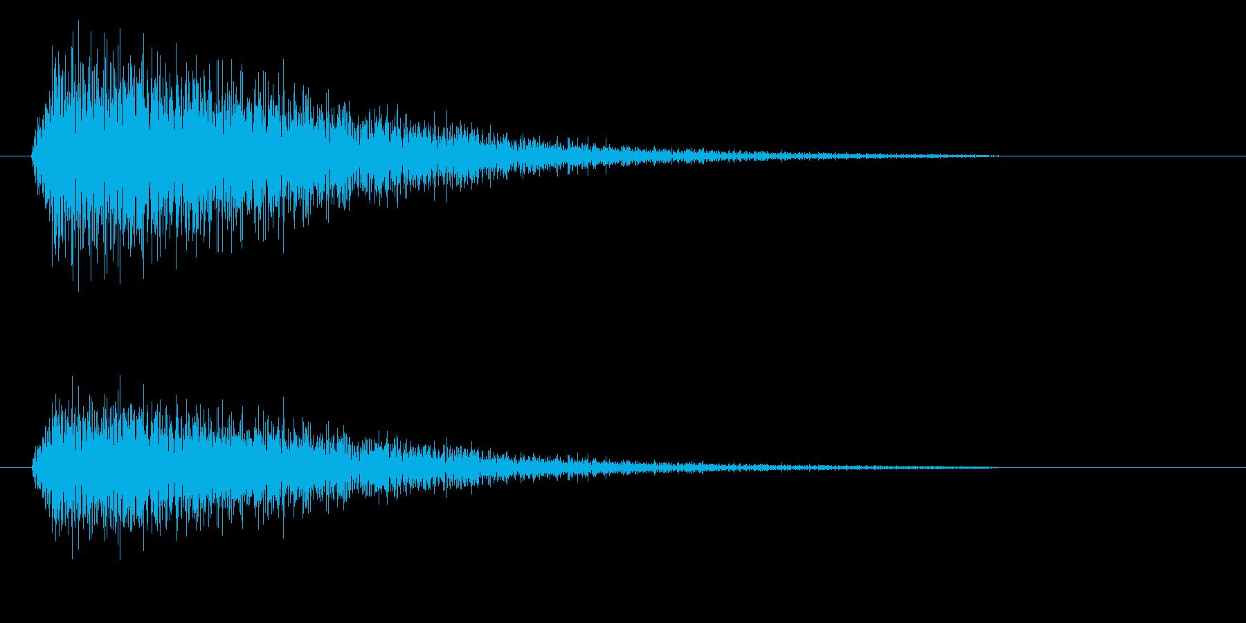 ジンというシンバルの高い音の再生済みの波形