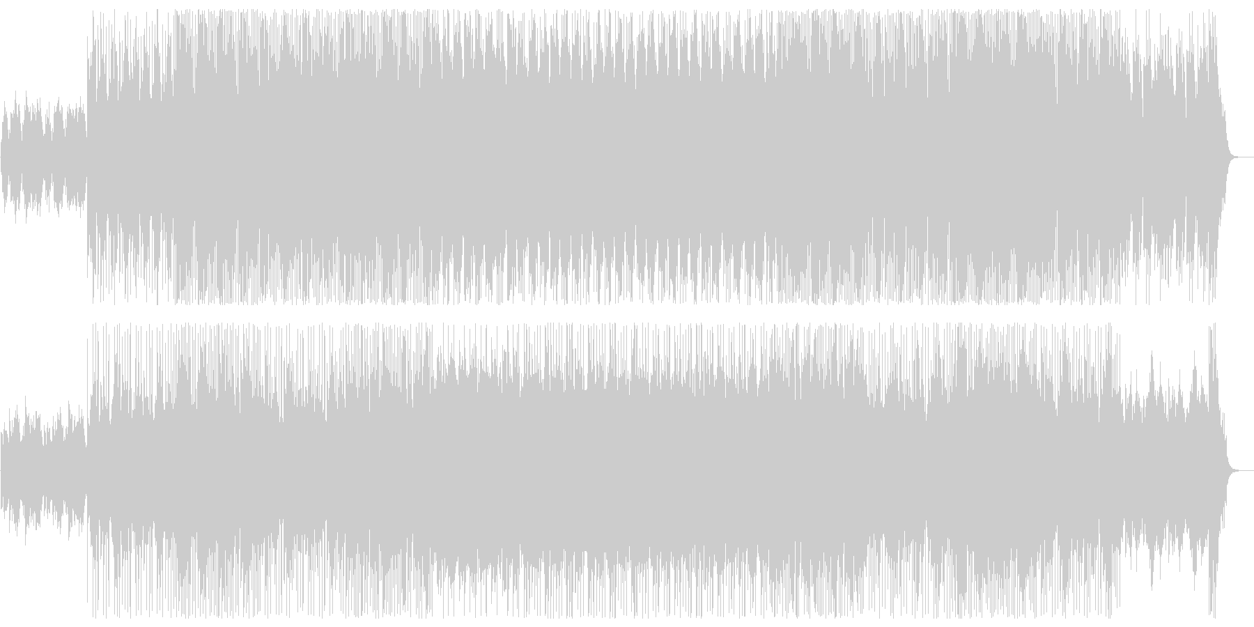 神秘的な印象のシンセサウンドの未再生の波形