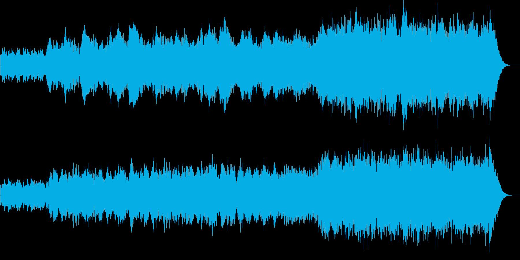 チェロとハープの不思議で幻想的な曲の再生済みの波形