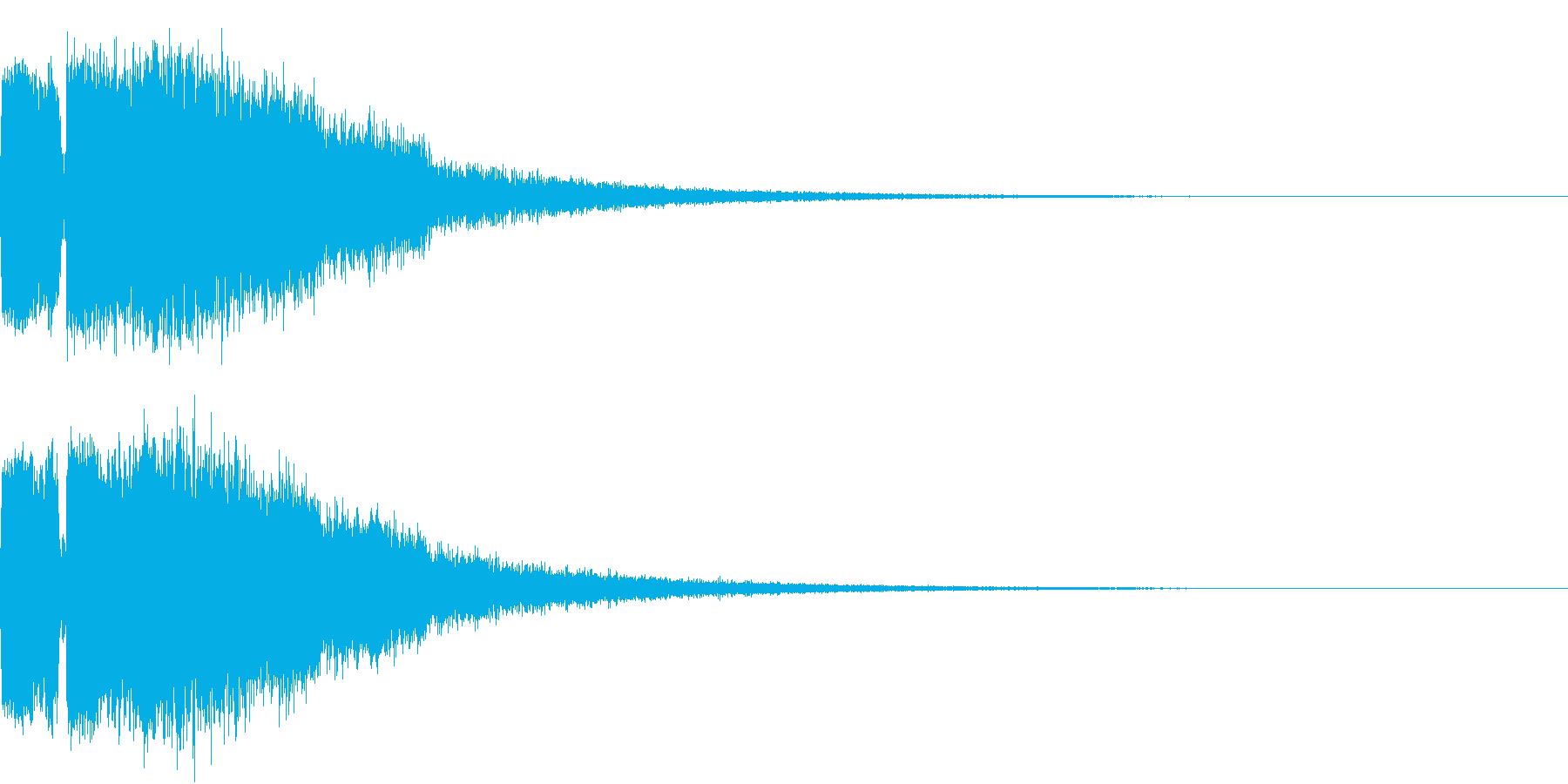 ピコピコ キューン ヒューン シューンBの再生済みの波形