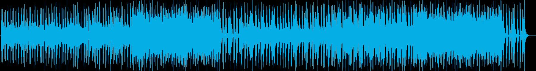 キラキラとして綺麗な楽曲の再生済みの波形