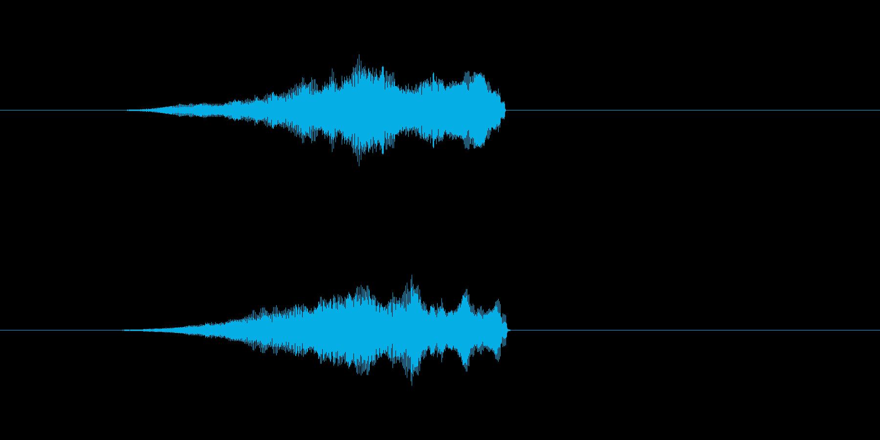 ビームをチャージするような音の再生済みの波形