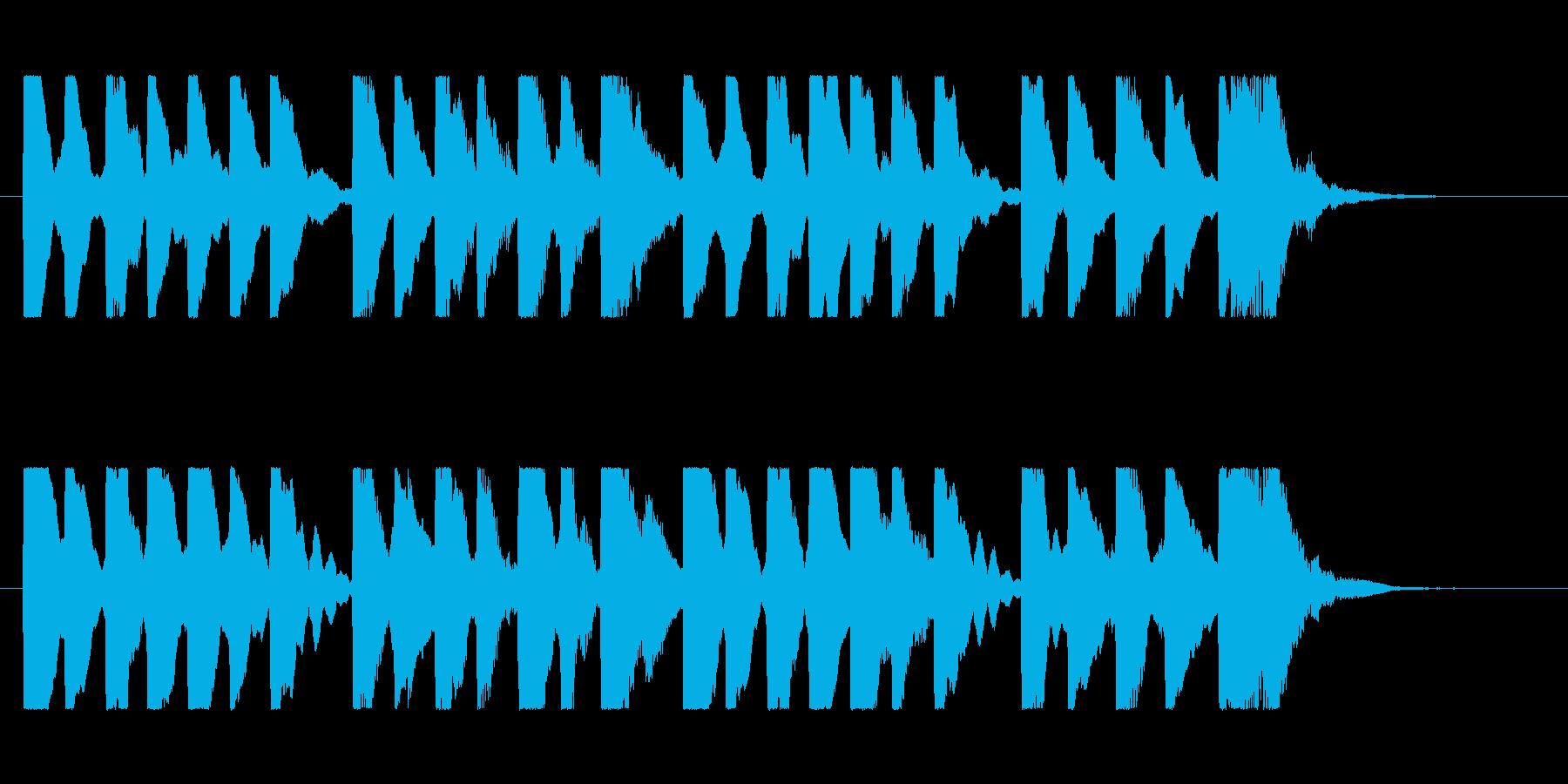 物悲しいチップチューンのゲームオーバーの再生済みの波形
