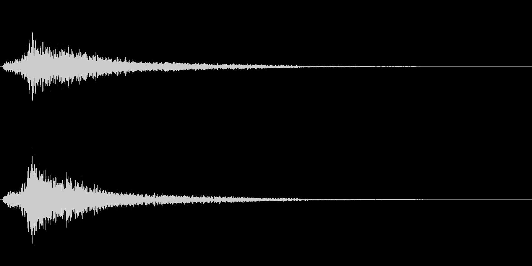 サスペンスに最適!ピアノの弦を弄ぶ音43の未再生の波形
