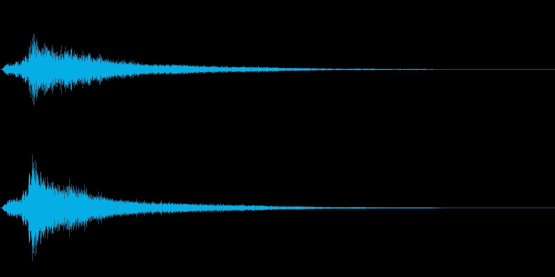 サスペンスに最適!ピアノの弦を弄ぶ音43の再生済みの波形