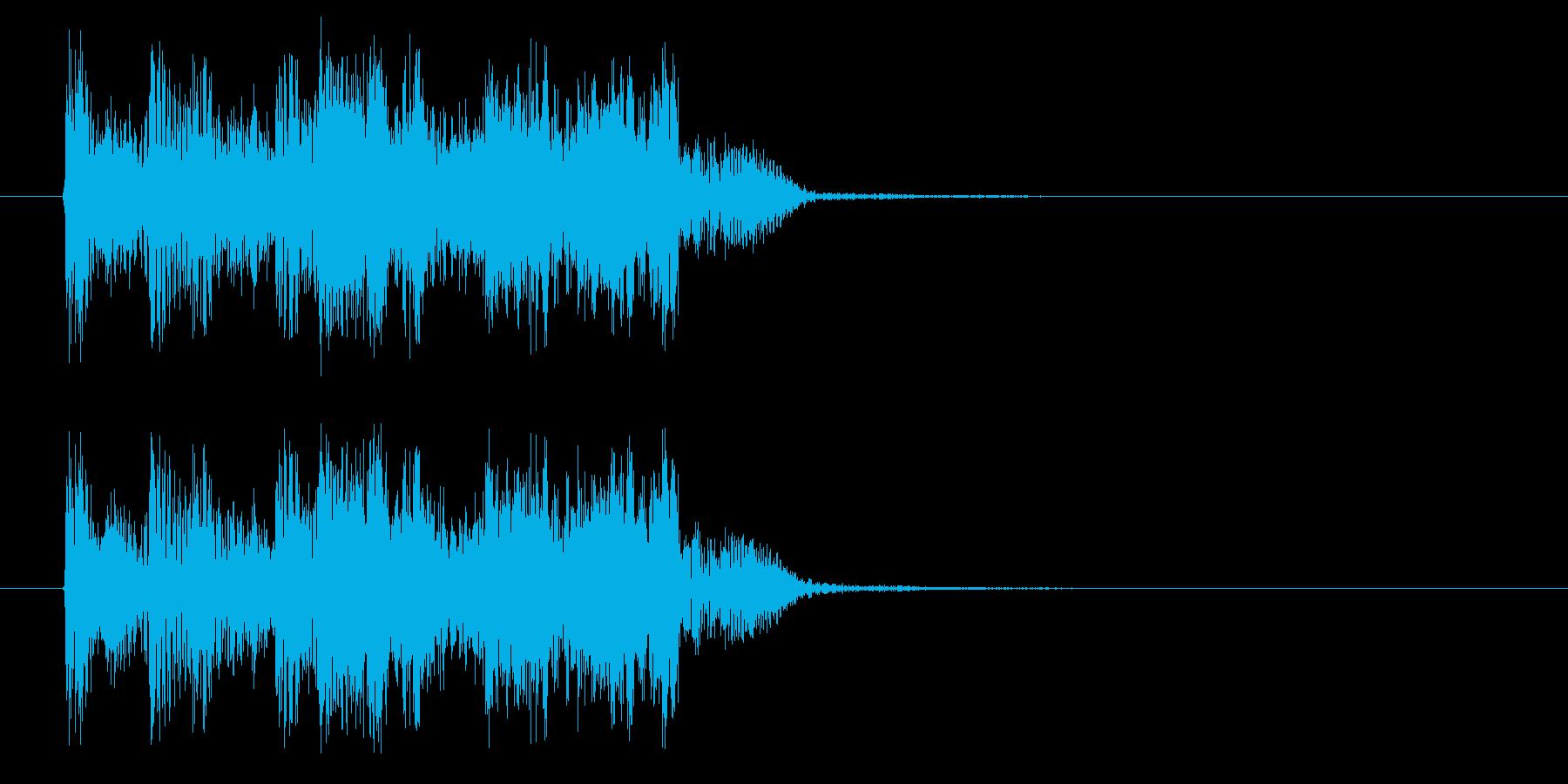 アップテンポなロックバンドのジングルの再生済みの波形