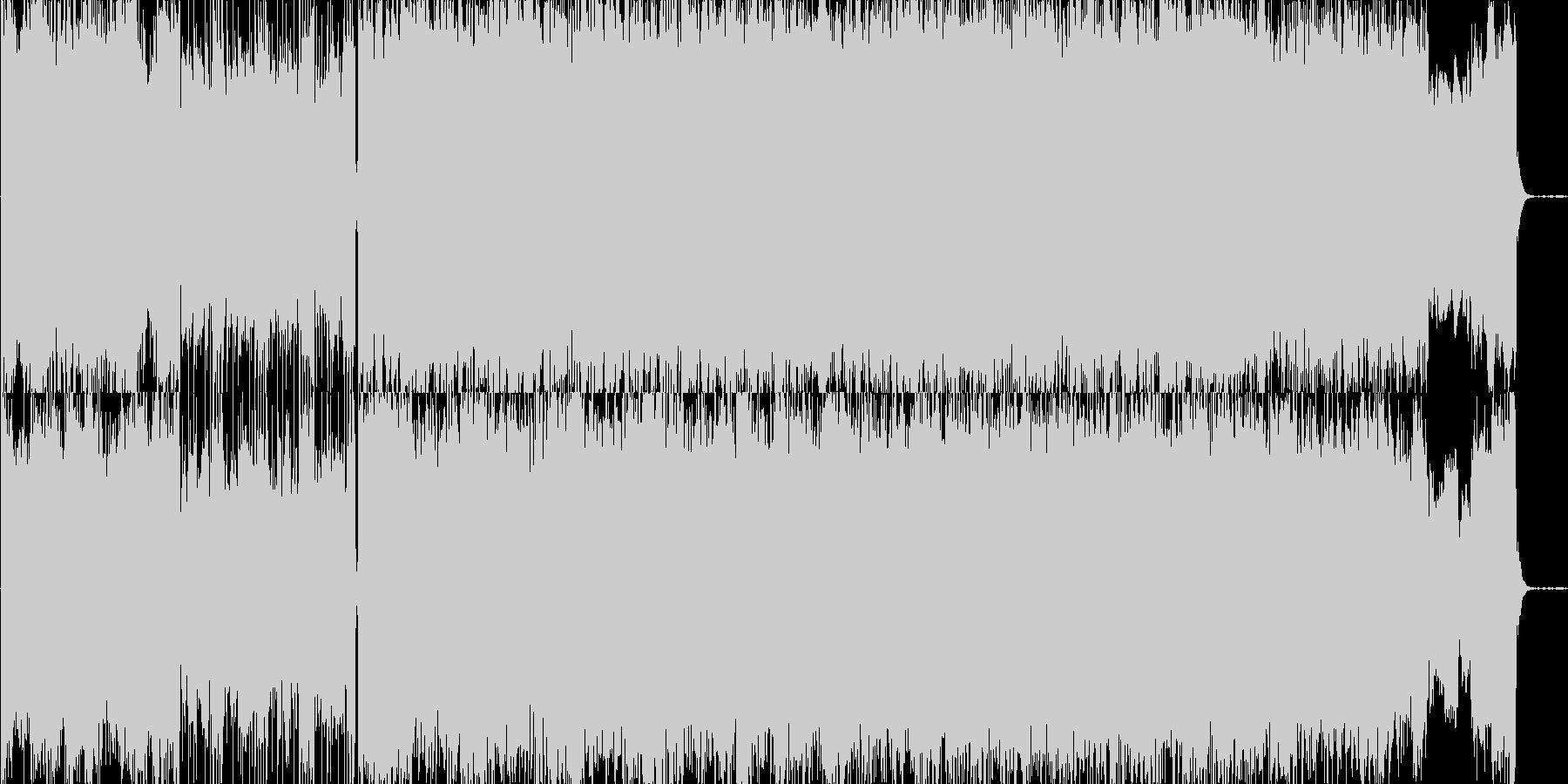 ホラーテイストのBGMの未再生の波形