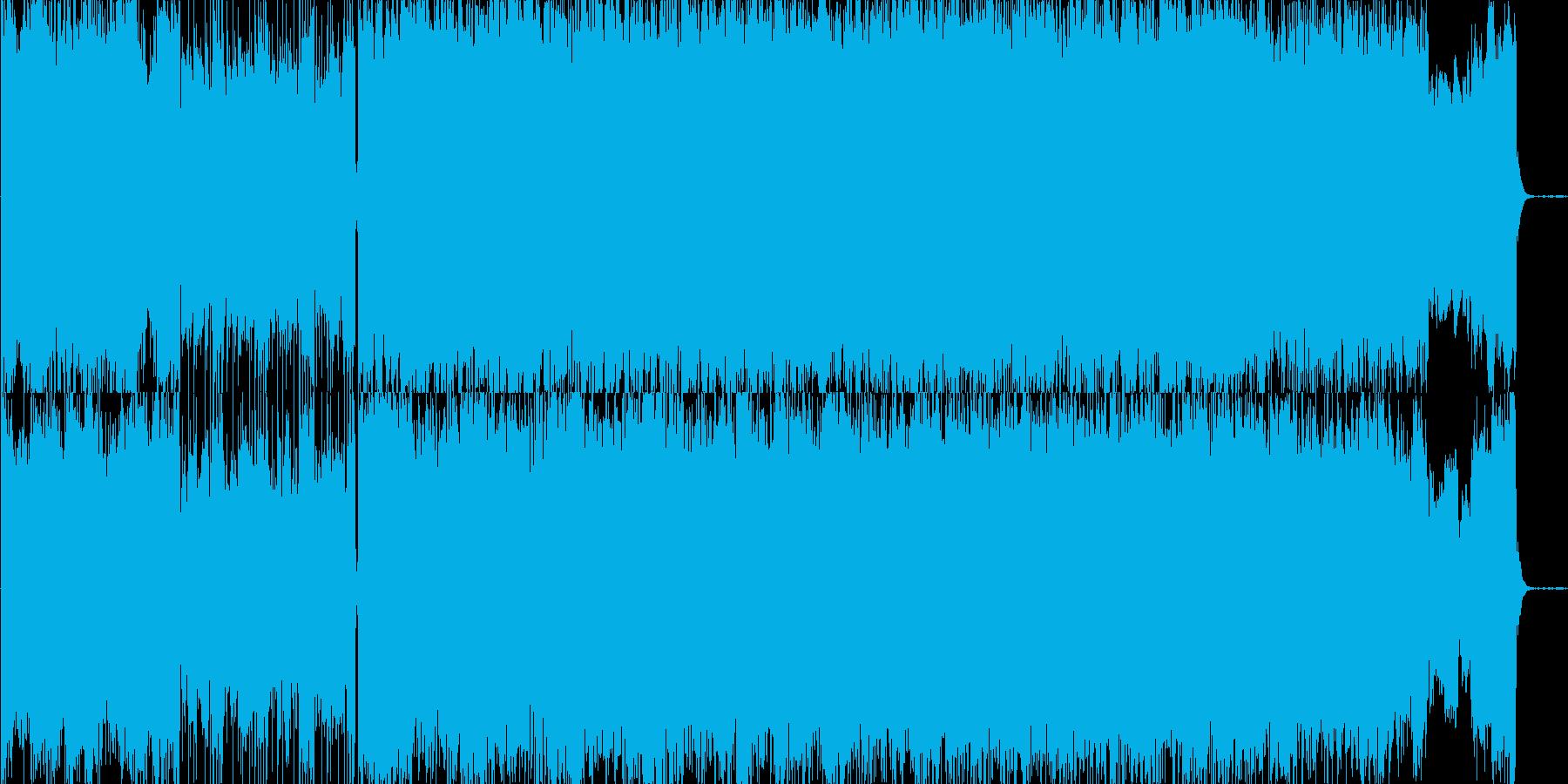 ホラーテイストのBGMの再生済みの波形