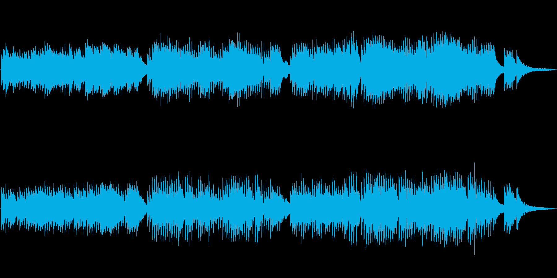 CM等で使えるほのぼのとしたピアノ曲の再生済みの波形