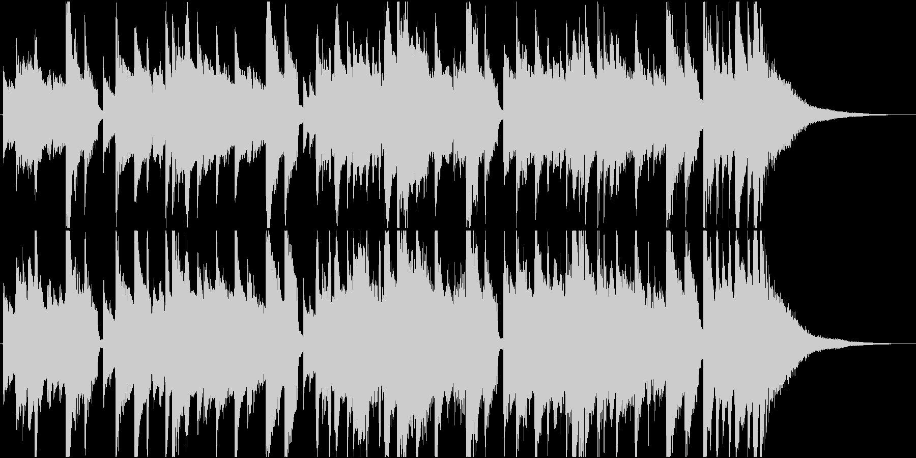 ポップなアコースティックギターのジングルの未再生の波形