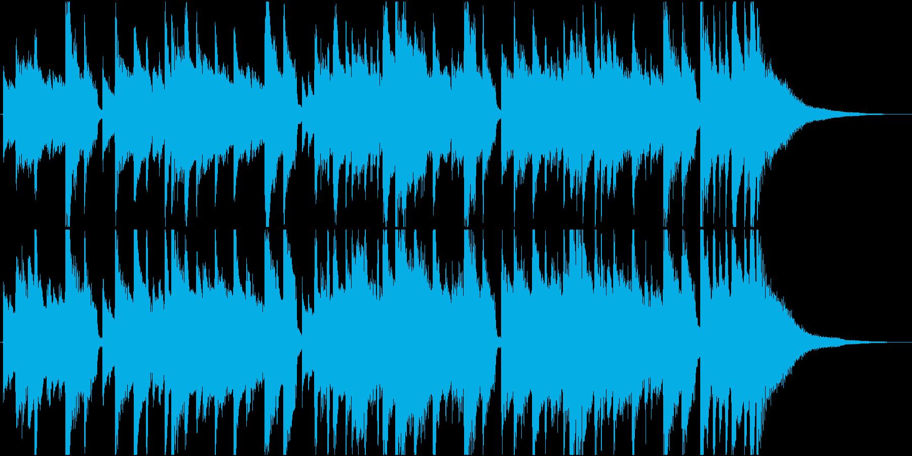 ポップなアコースティックギターのジングルの再生済みの波形