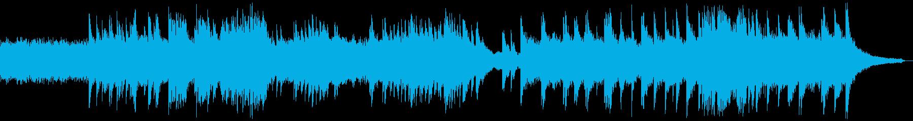 クラシック風なピアノBGMの再生済みの波形