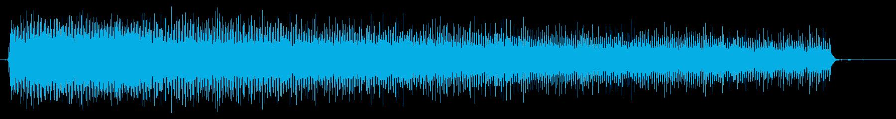 目覚まし時計の音の再生済みの波形