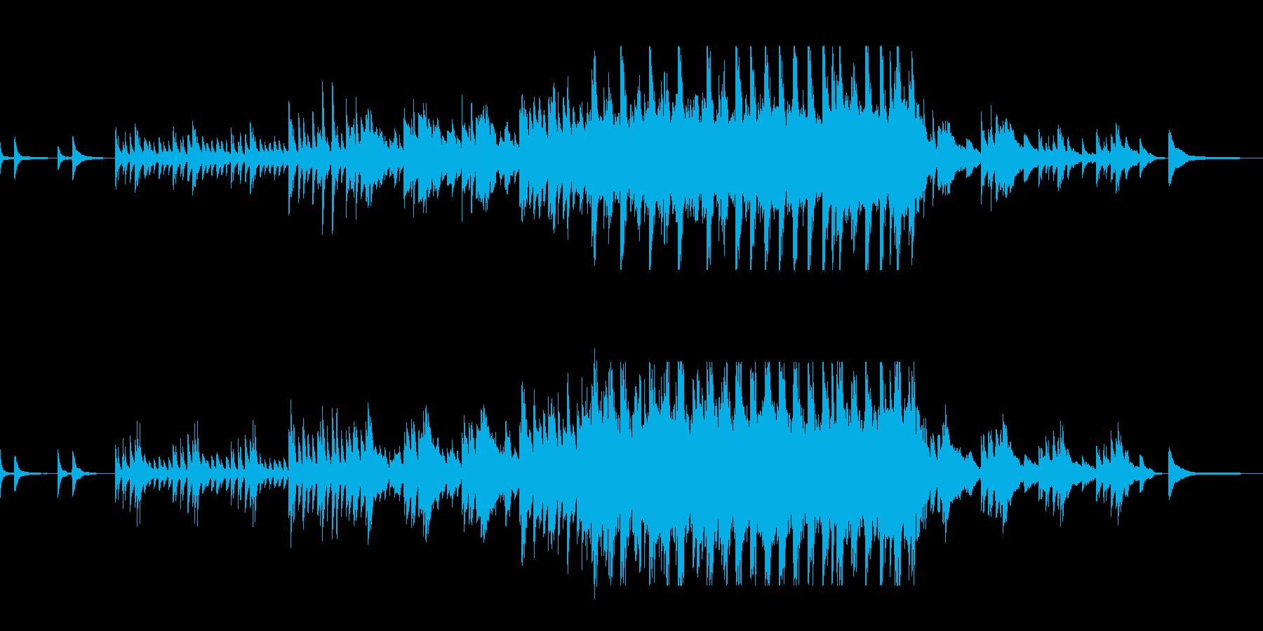 ぽつんとした美しい旋律のピアノの曲の再生済みの波形