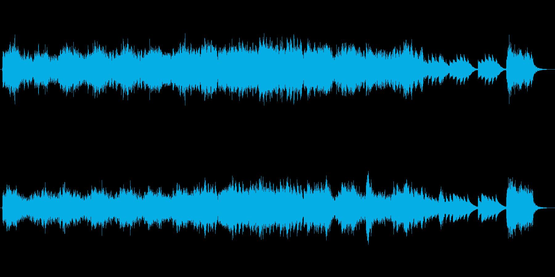 ピアノとバイオリンの回想シーン風バラードの再生済みの波形