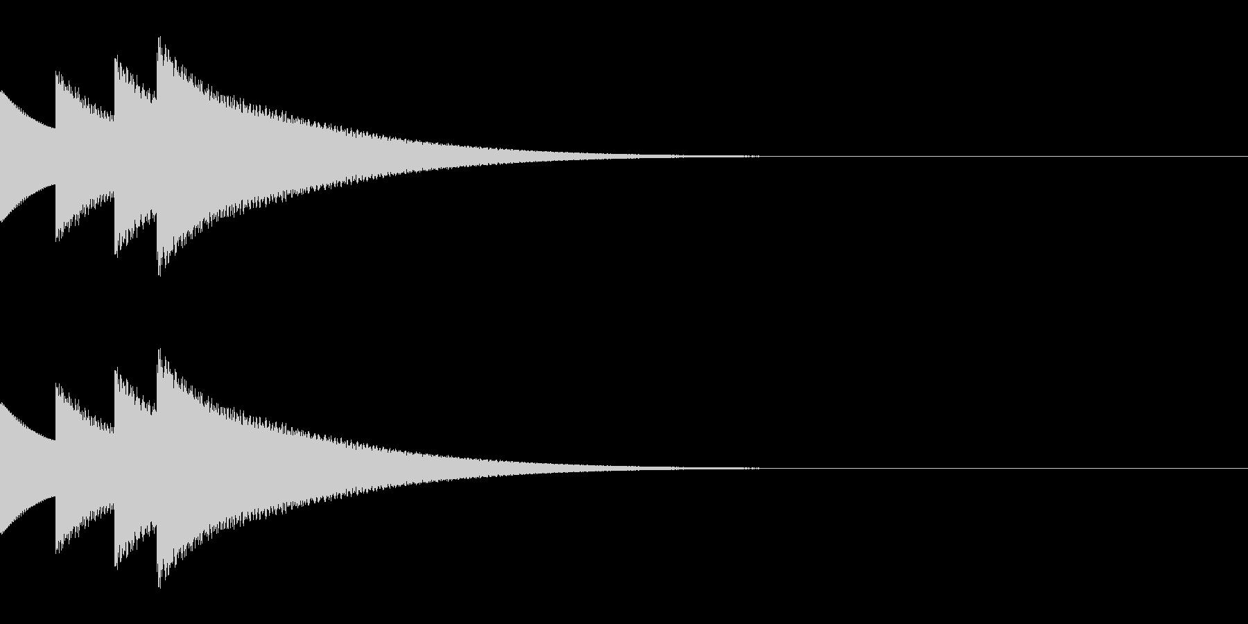 クイズ正解の効果音「ぴんぽんぴんぽーん」の未再生の波形