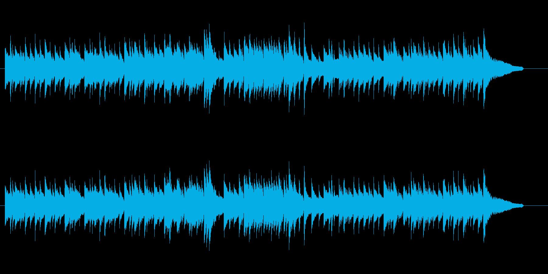 2本のギターの素朴な曲の再生済みの波形