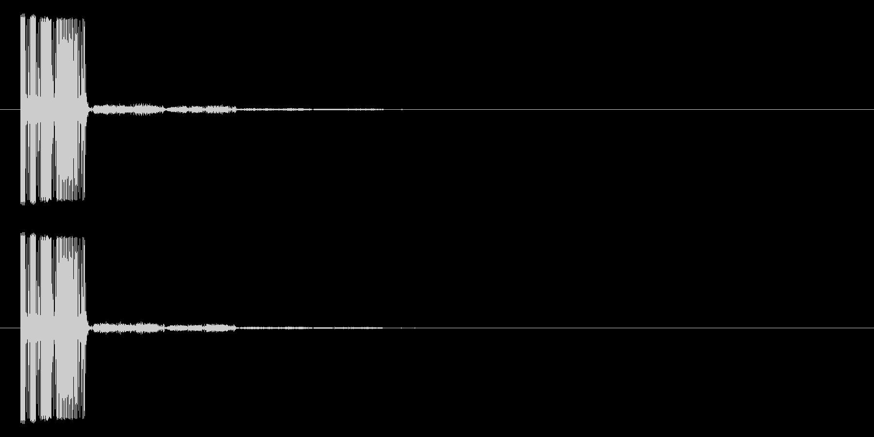 シューティング_被弾_ファミコン風2の未再生の波形
