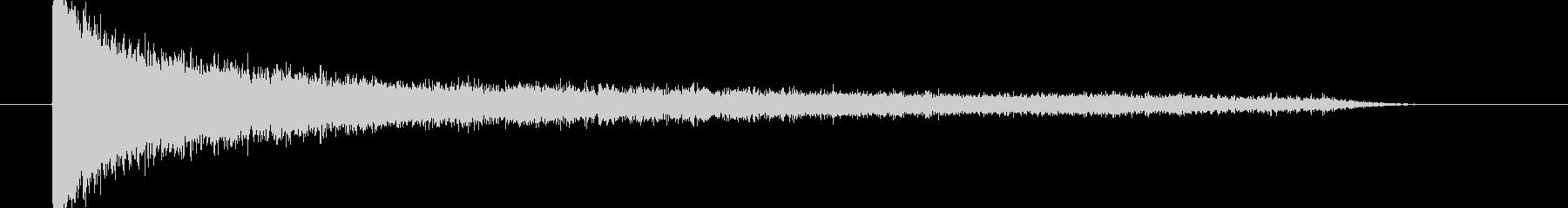 ガーン・長めのショック音の未再生の波形