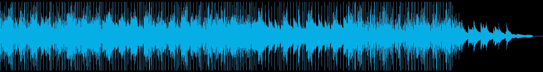 ピアノとワブルベースのアンビエントの再生済みの波形