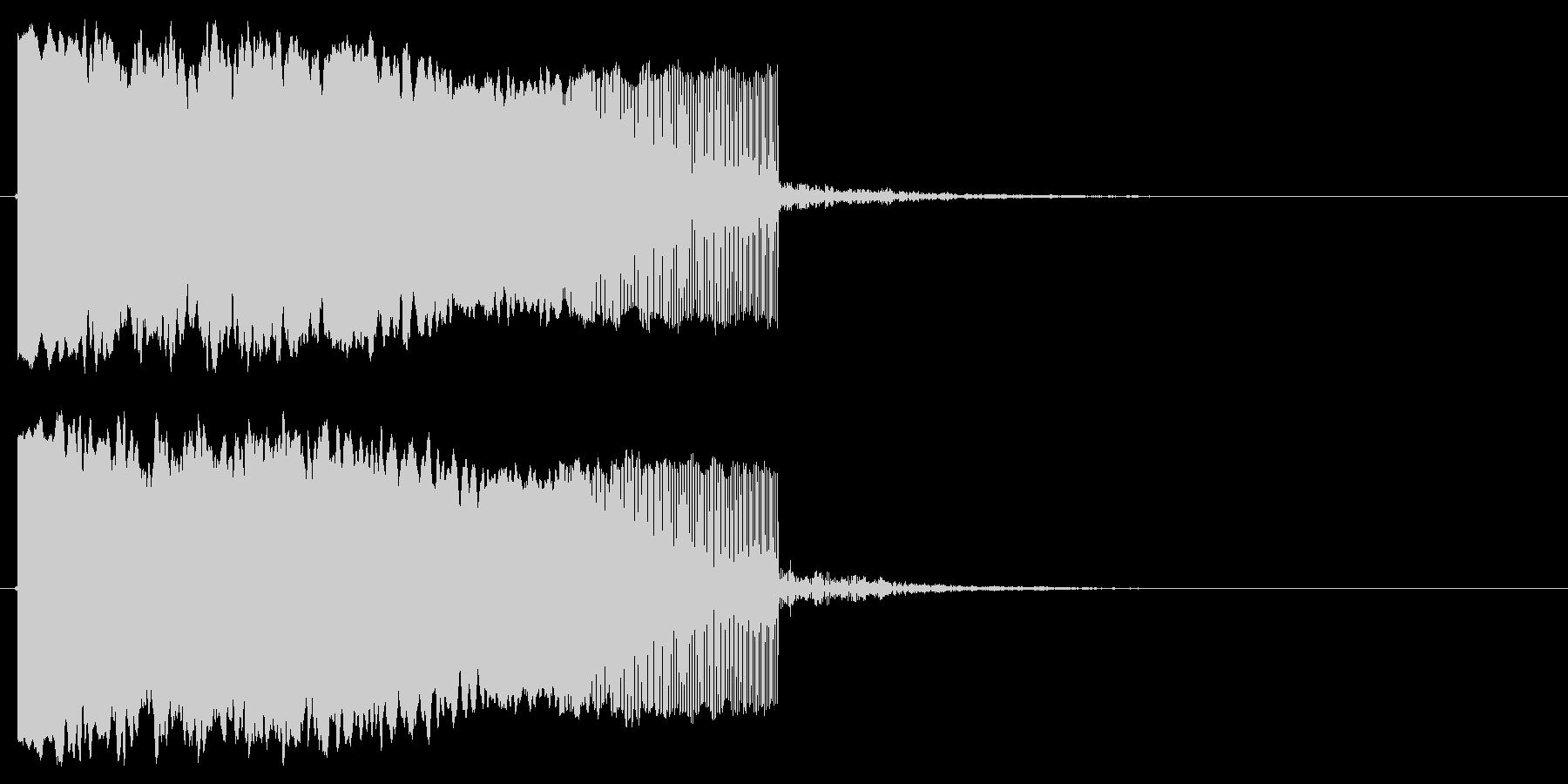 落下する音の未再生の波形