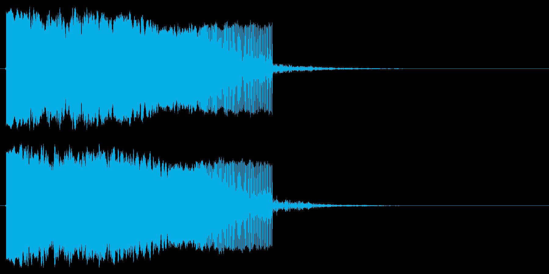 落下する音の再生済みの波形