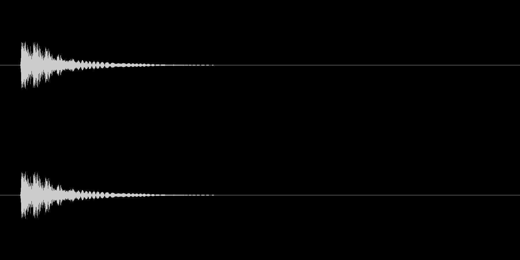 【アクセント18-2】の未再生の波形