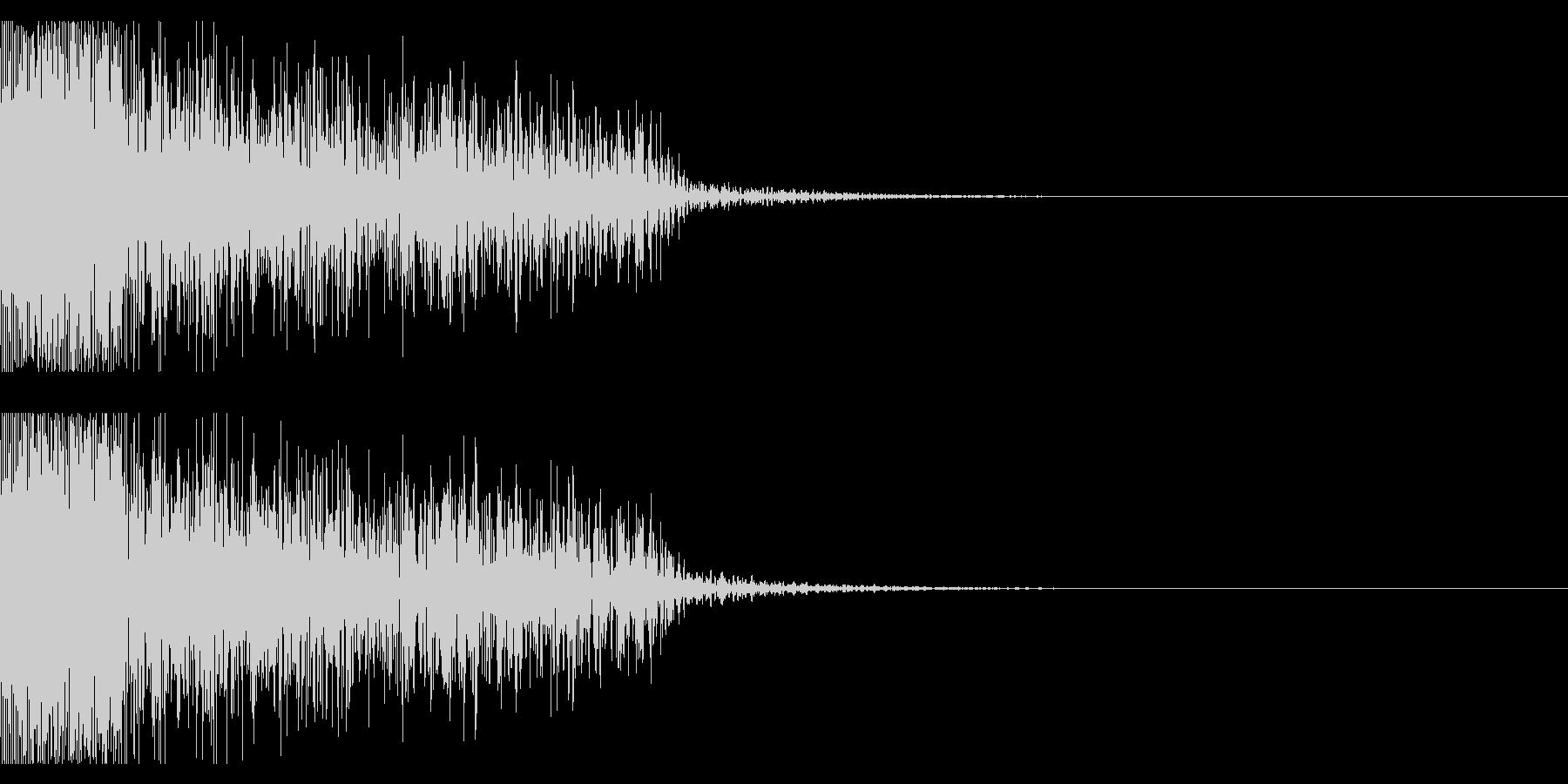 ビックリ音01(ジャン!)の未再生の波形