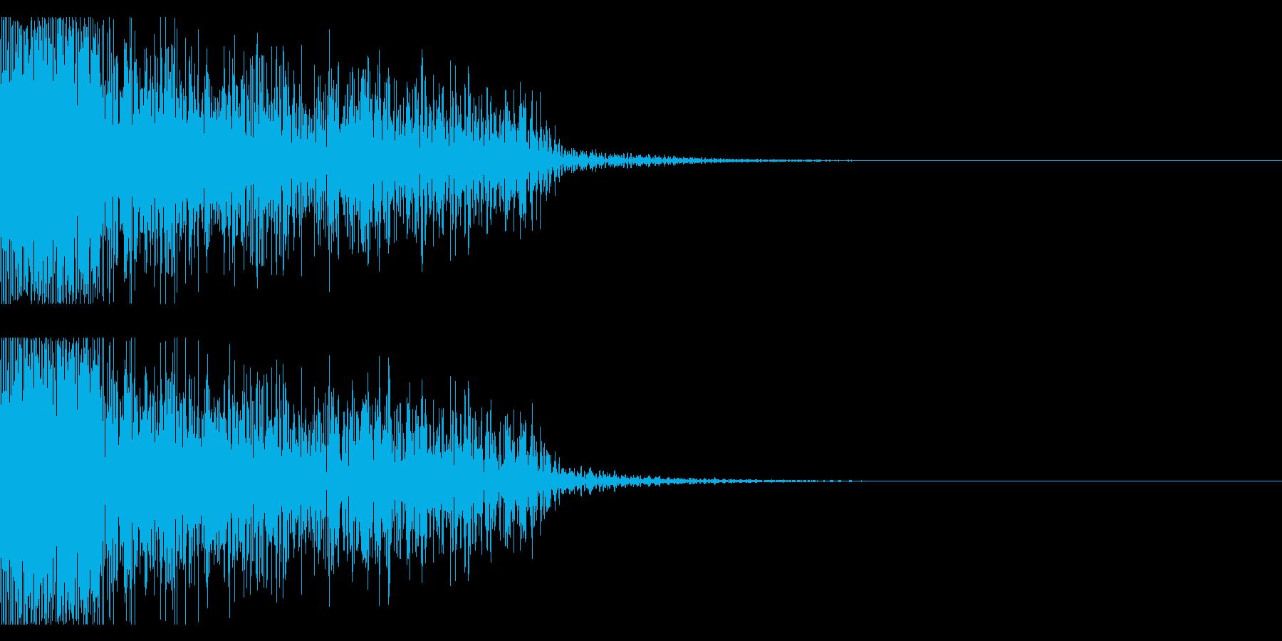 ビックリ音01(ジャン!)の再生済みの波形