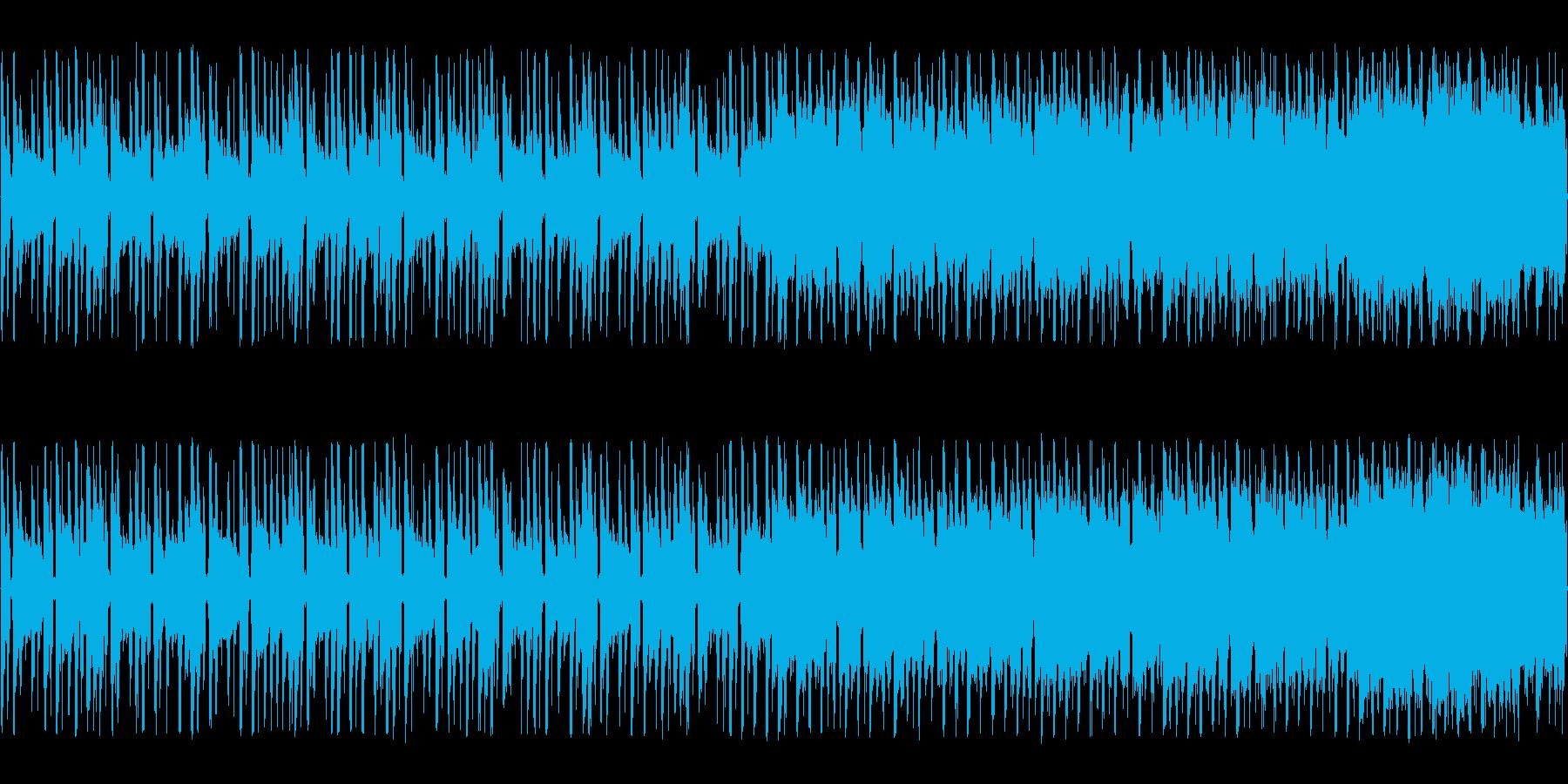疾走感のあるシリアスチップチューンの再生済みの波形