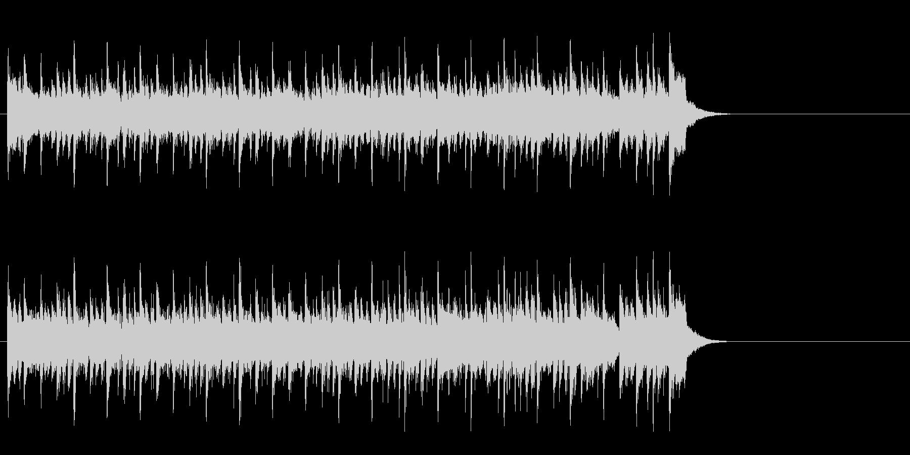 楽しく軽快なポップ(Aメロ)の未再生の波形
