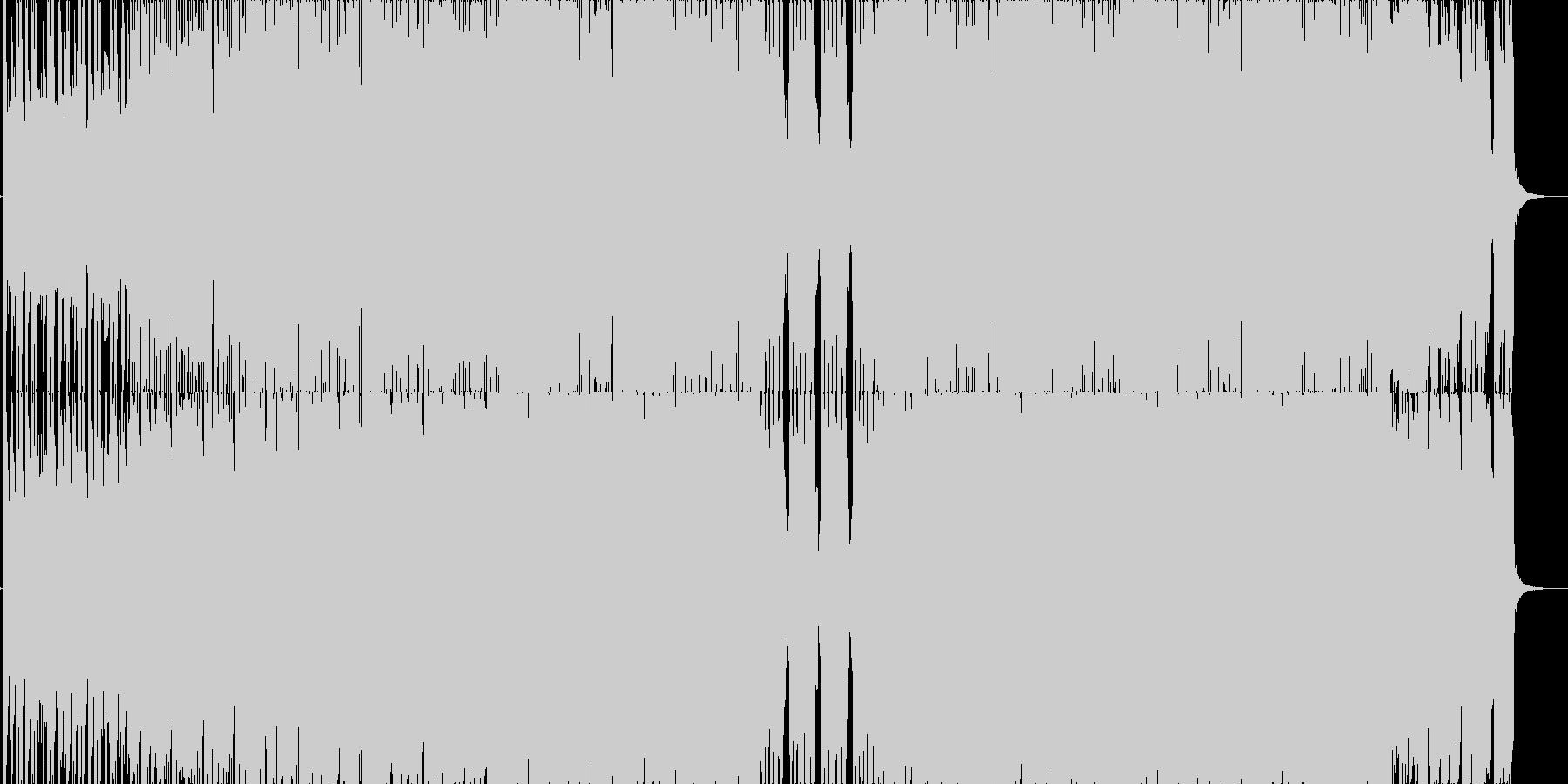 空飛ぶ映像クールな映像に合うロックの未再生の波形