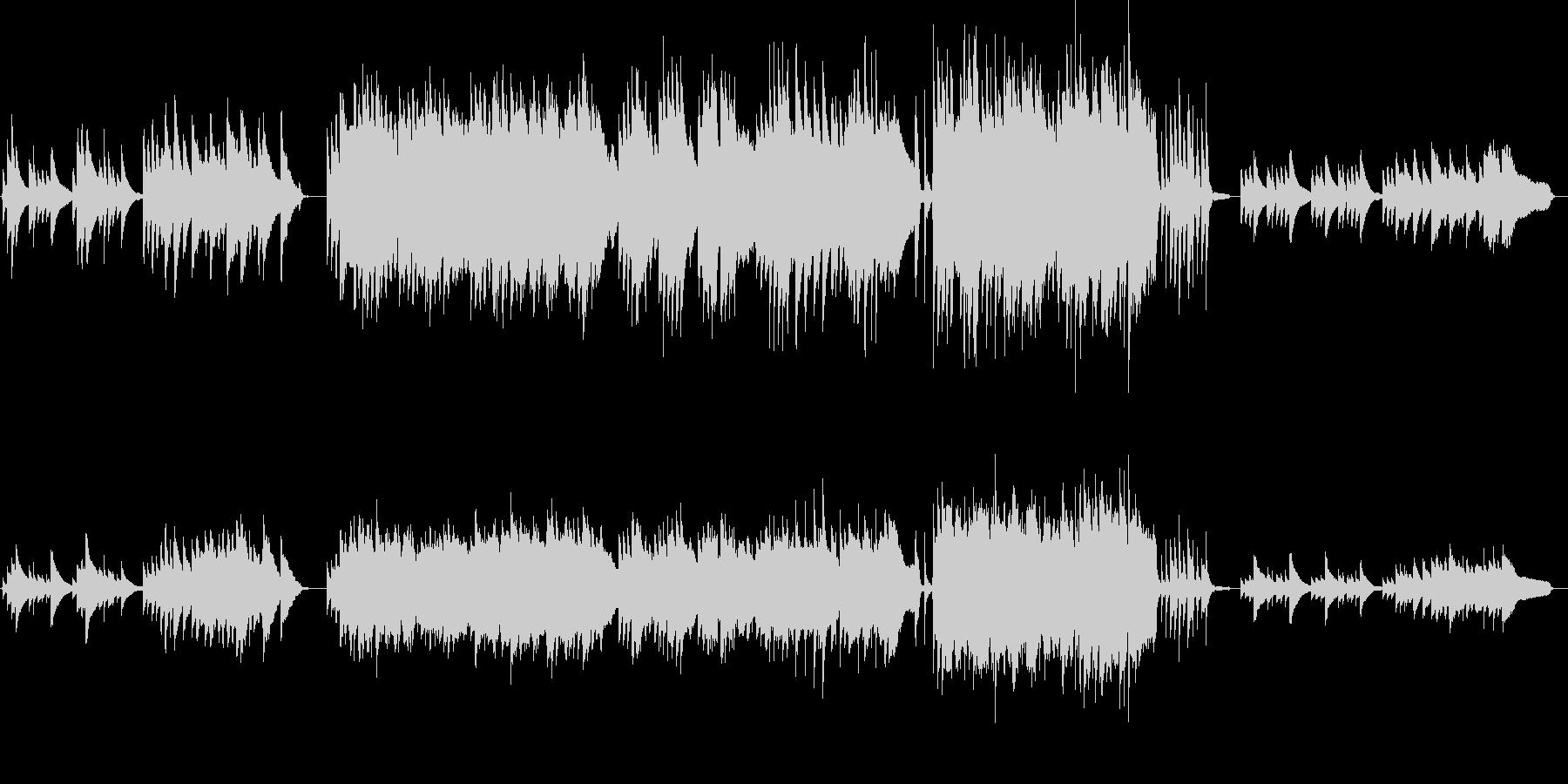 ピアノとストリングスがメインのバラードの未再生の波形