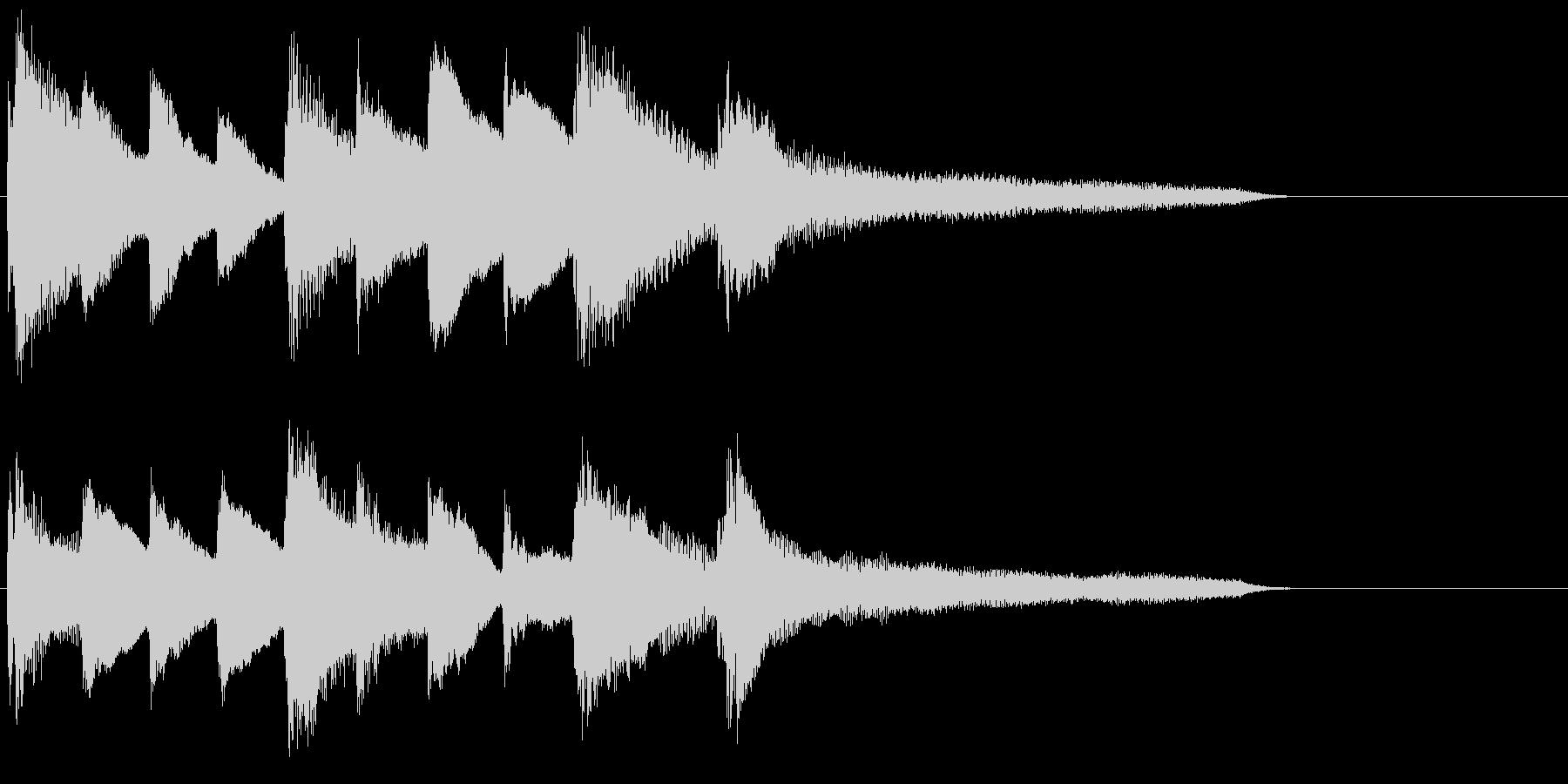 ピアノ ジングル05 透明感の未再生の波形