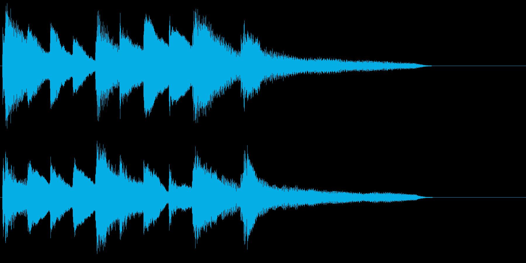 ピアノ ジングル05 透明感の再生済みの波形