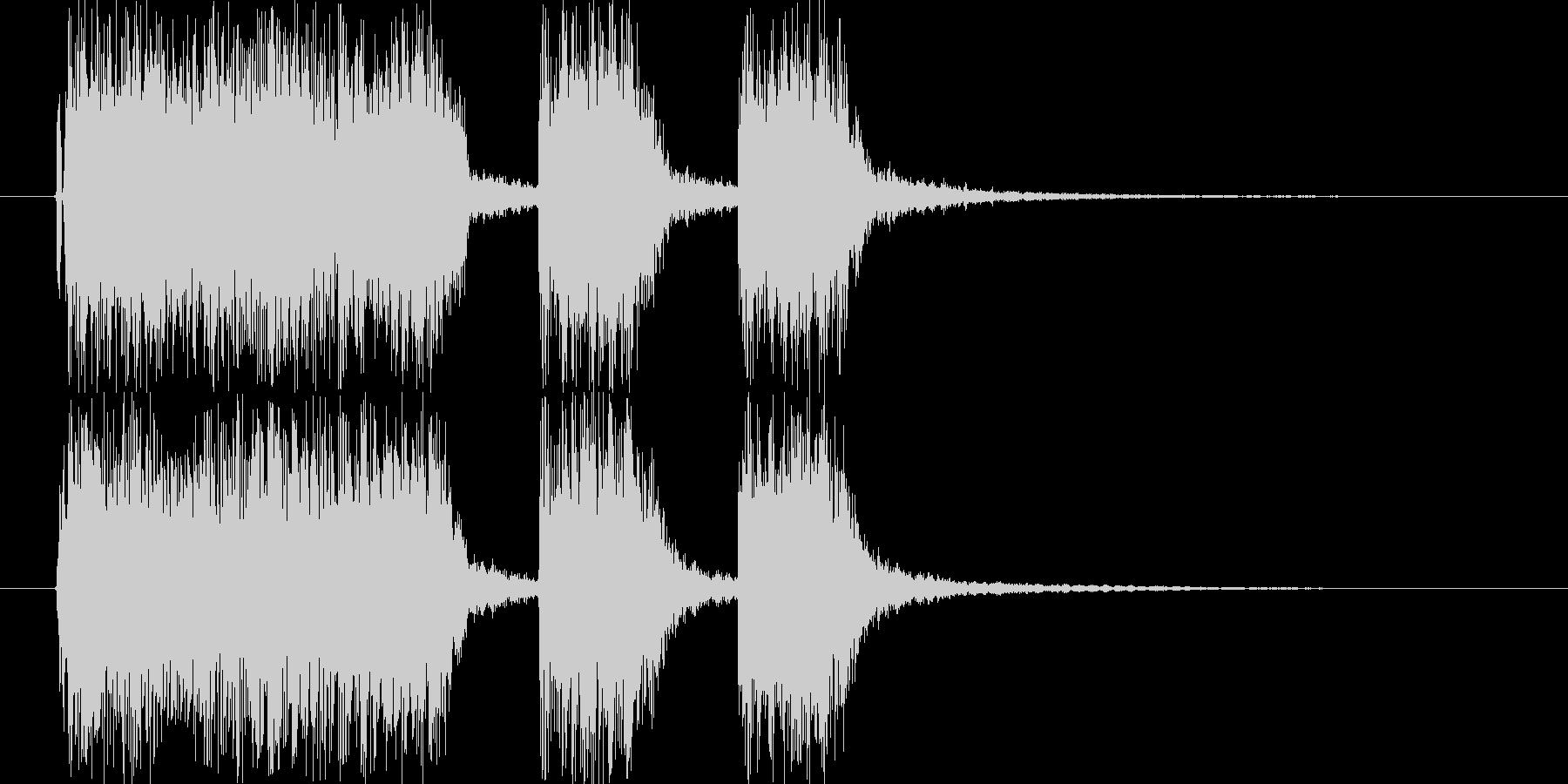 ロックなギターサウンドのショートジング…の未再生の波形