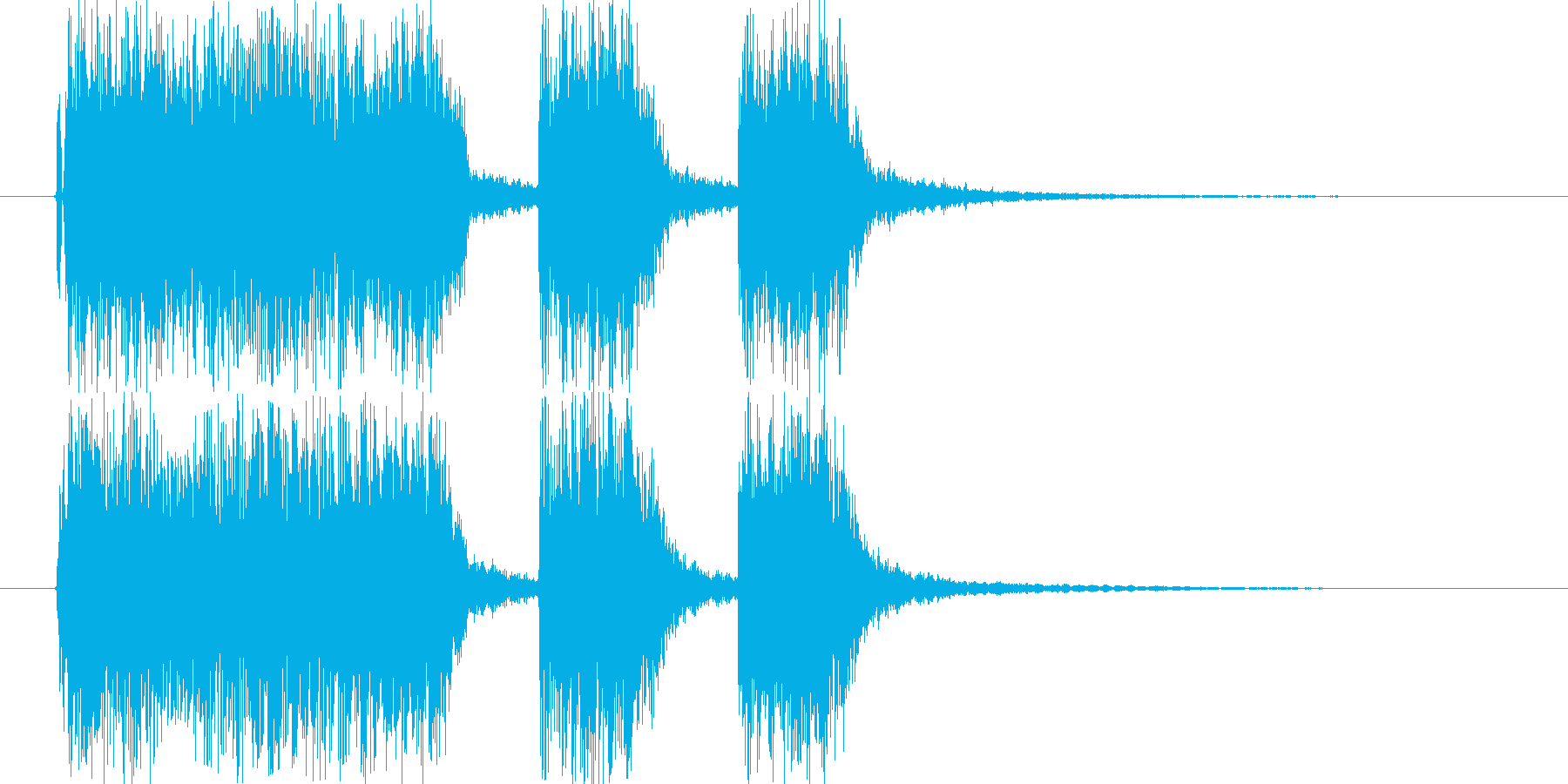ロックなギターサウンドのショートジング…の再生済みの波形