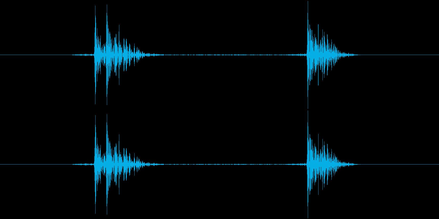 パチン!(将棋を打つ音)の再生済みの波形
