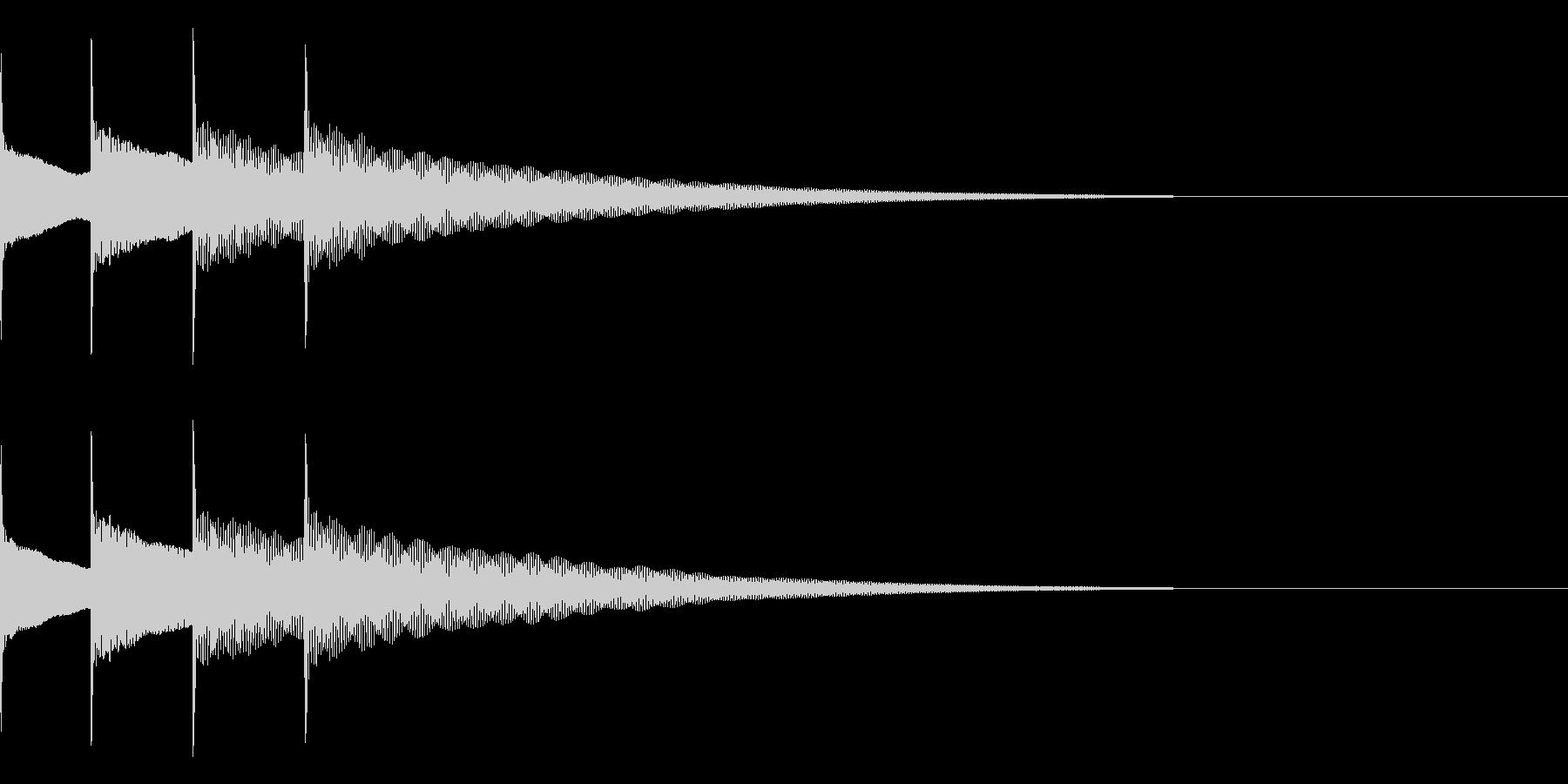 お知らせ音04(ピンポンパンポン)下降Aの未再生の波形