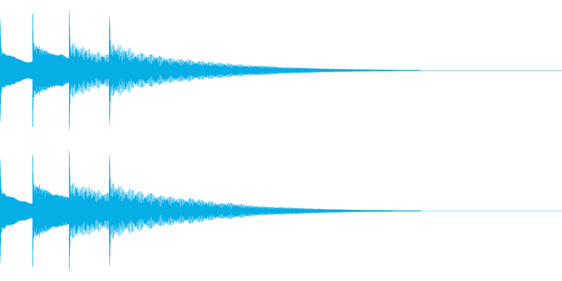 お知らせ音04(ピンポンパンポン)下降Aの再生済みの波形