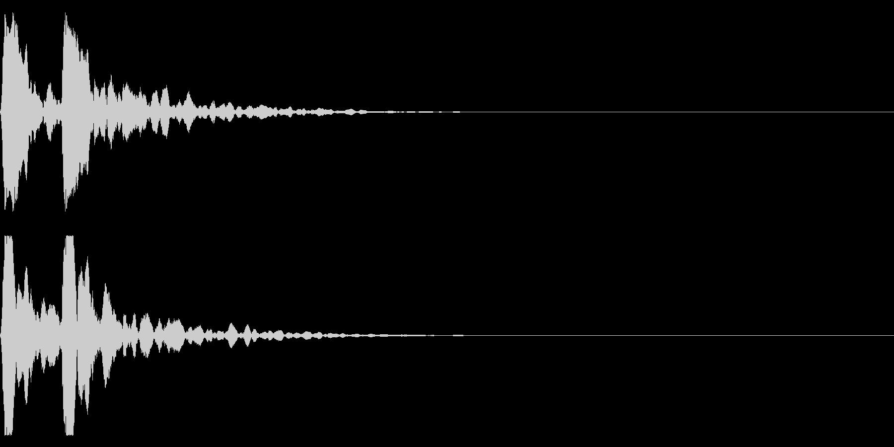 ポポン!音程低め鼓の基本の音!エフェクトの未再生の波形