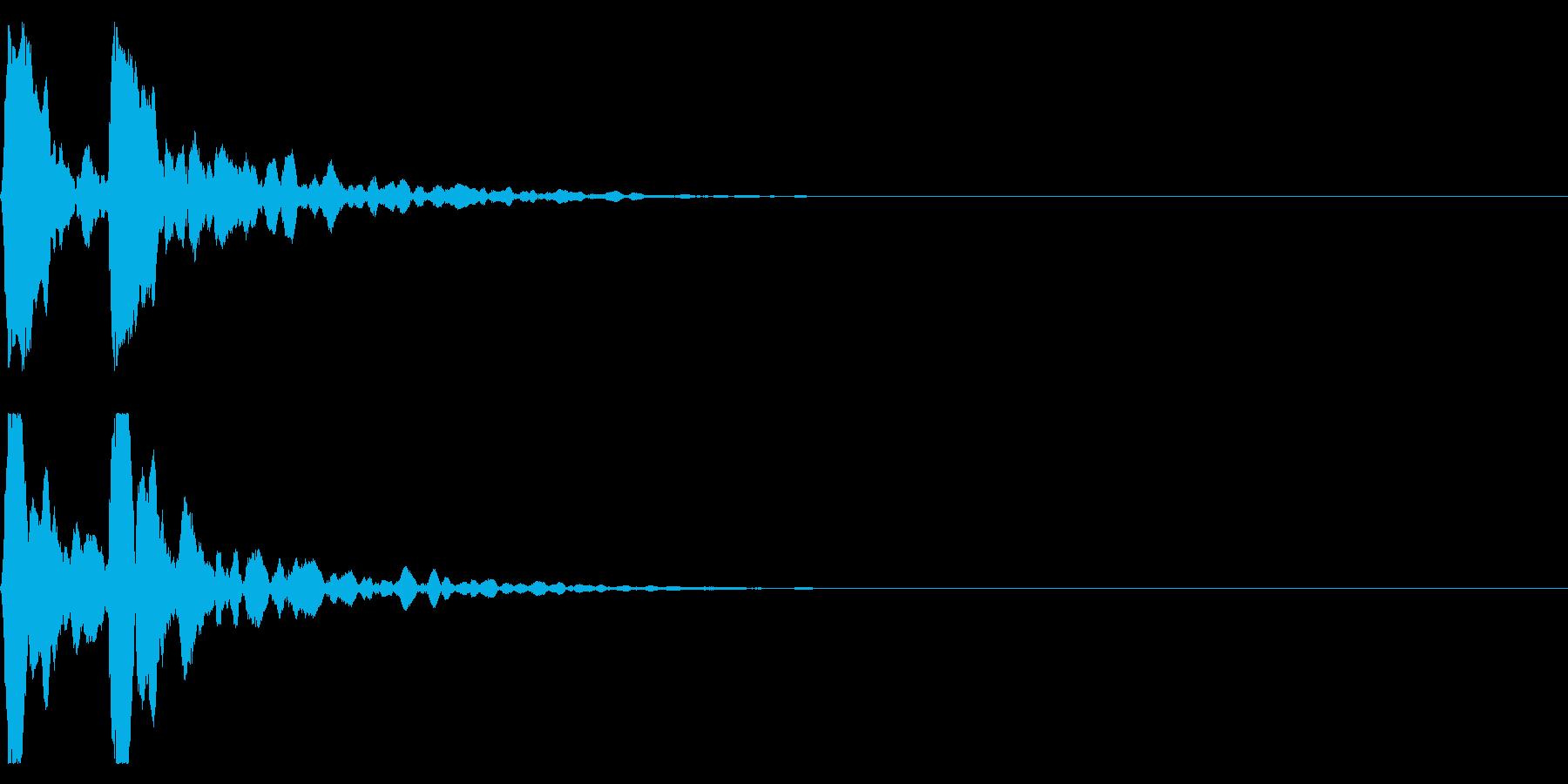 ポポン!音程低め鼓の基本の音!エフェクトの再生済みの波形