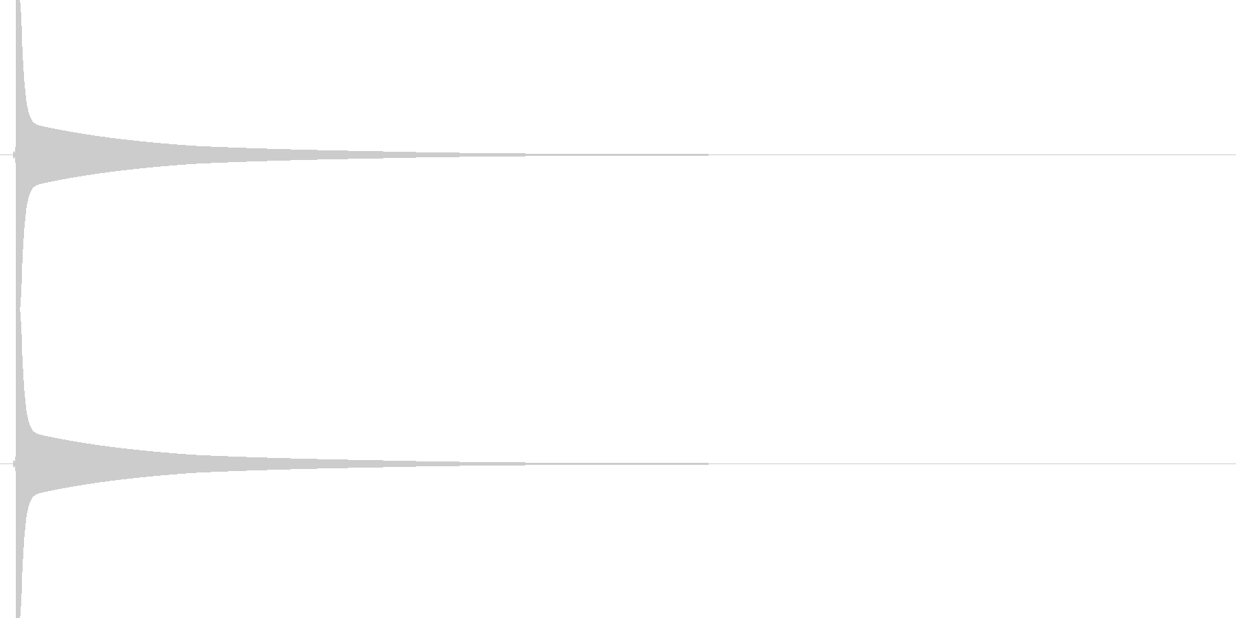 【SE】ピーン02(ピッチ中)の未再生の波形