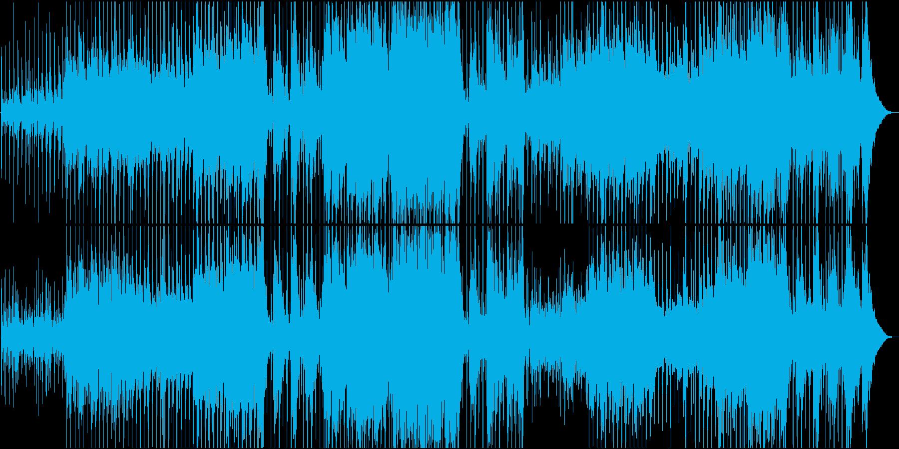 映像用普段使いのほのぼのカントリー楽曲の再生済みの波形