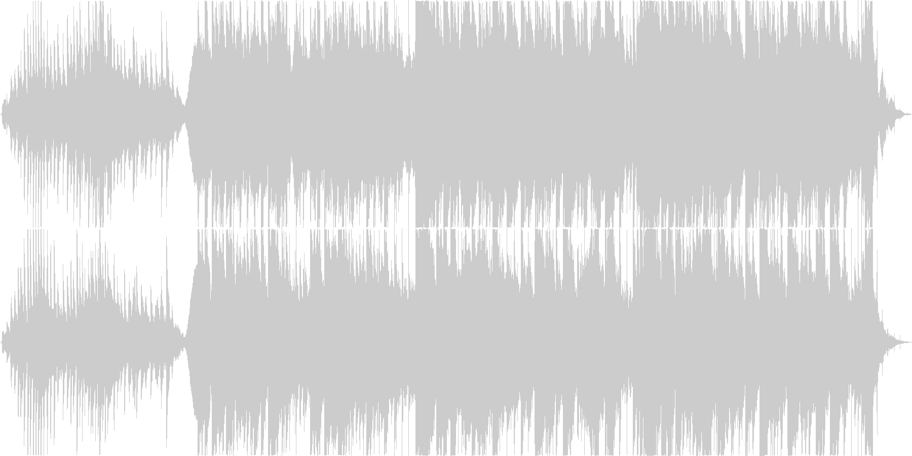 幻想的で雨の日を感じるピアノアンビエントの未再生の波形