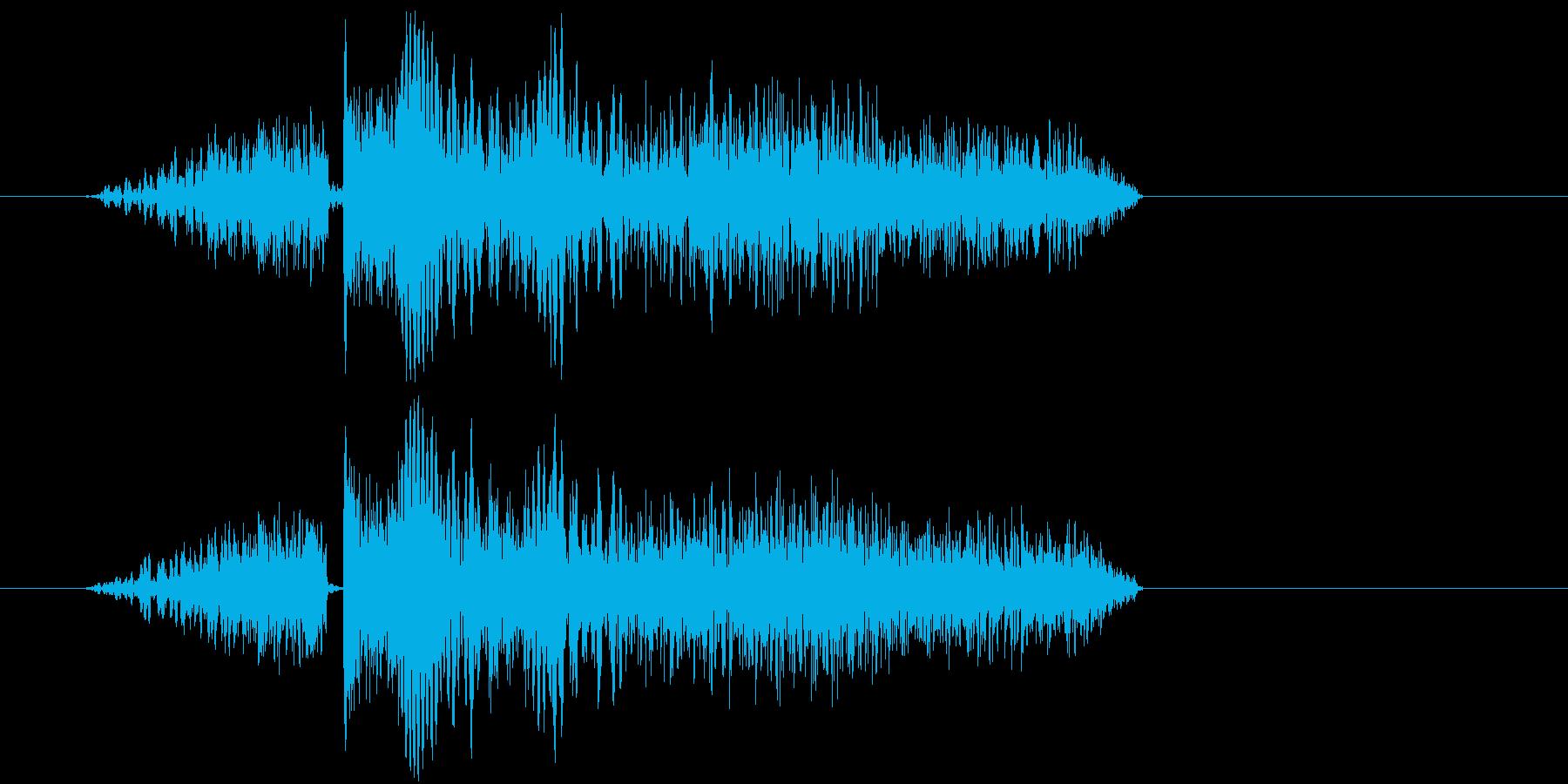 シューティング SFビーム発射音1 強めの再生済みの波形